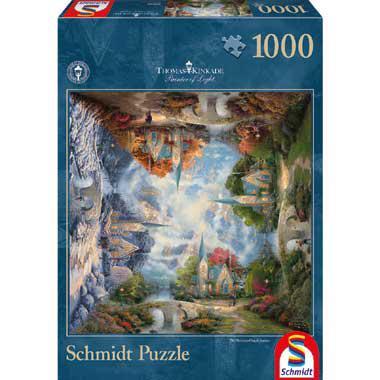 Schmidt Thomas Kinkade puzzel de kerk in de bergen 1000 stukjes