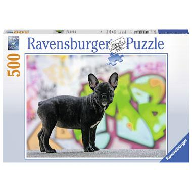 Ravensburger puzzel franse buldog 500 stukjes