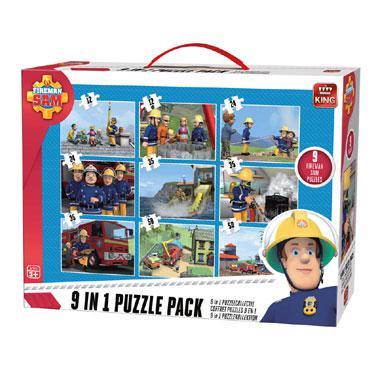 King 9 in 1 puzzel Brandweerman Sam 35 stukjes vanaf 3 jaar