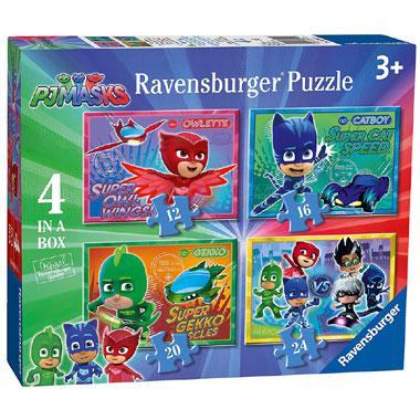 Ravensburger kinderpuzzel Pjmasks 24 stukjes vanaf 3 jaar