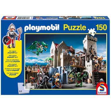 Schmidt playmobil gevecht om de koningsschat kinderpuzzel 150 st