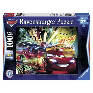 Ravensburger XXL puzzel Cars neon 100 stukjes vanaf 6 jaar