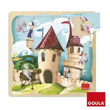 Goula Houten puzzel Kasteel vanaf 2 jaar
