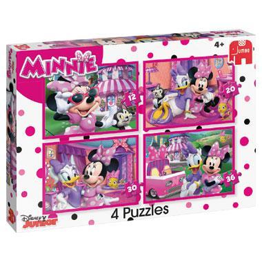 Jumbo 4 in 1 puzzel Disney Minnie Mouse 36 stukjes vanaf 2 jaar