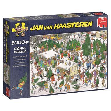 Jumbo Jan van Haasteren puzzel Kerstbomenmarkt 2000 stukjes