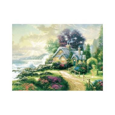 Puzzel Kinkade Huis aan Zee 1000 stukjes