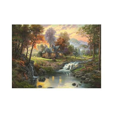 Puzzel Kinkade Mountain Retrait 1000 stukjes