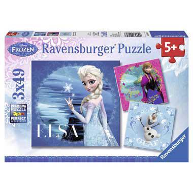 Ravensburger Puzzel Frozen Anna, Olaf en Elsa vanaf 5 jaar
