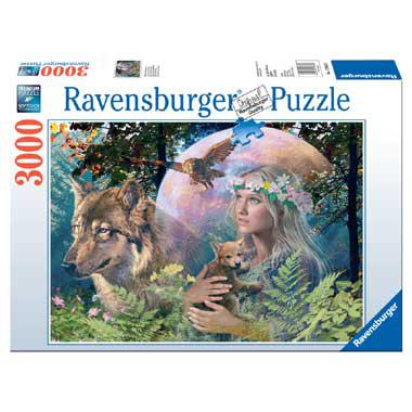 Ravensburger puzzel wolven in de maneschijn 3000 stukjes