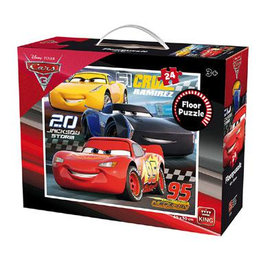 King Disney Cars 3 vloerpuzzel vanaf 3 jaar