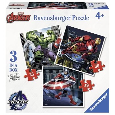 Ravensburger Avengers puzzelset 49 stukjes vanaf 4 jaar