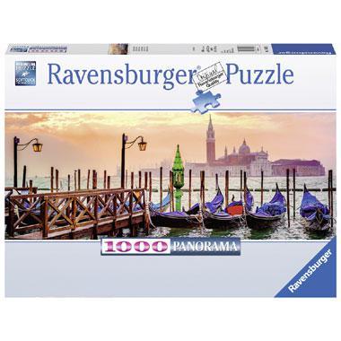 Ravensburger panoramapuzzel Gondels in Venetie 1000 stukjes