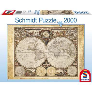 Schmidt puzzel Historical Map 2000 stukjes