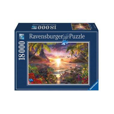Ravensburger paradijselijke zonsondergang