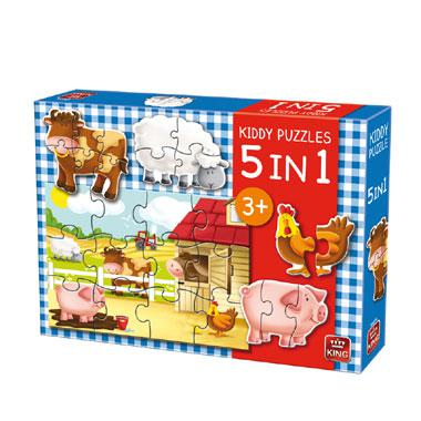 King leguzzel voor kinderen Boerderij 12 stukjes vanaf 3 jaar