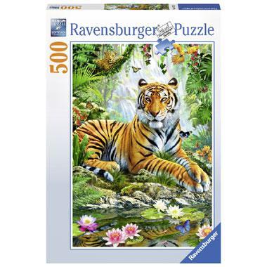 Ravensburger puzzel Tijgers in het Oerwoud 500 stukjes
