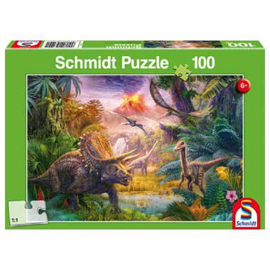 Schmidt puzzel The Valley of the Dinosaurus 100 stukjes