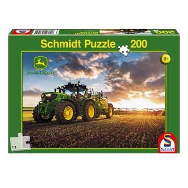 Schmidt puzzel John Deere Tractor 200 stukjes vanaf 8 jaar