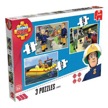 Jumbo puzzelset Brandweerman Sam 24 stukjes