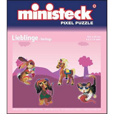 Ministeck pixelpuzzel dieren