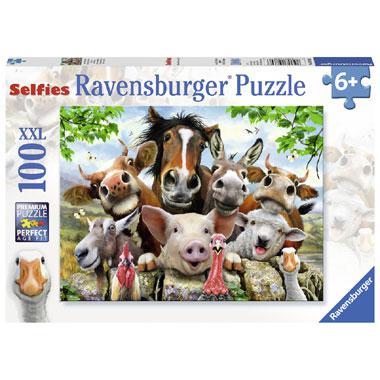 Ravensburger puzzel Farmyard Selfies 100 stukjes
