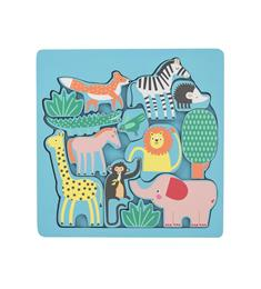 HEMA Inlegpuzzel dieren 12 stukjes vanaf 2 jaar