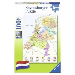 Puzzel Nederland kaart 100 stukjes vanaf 6 jaar