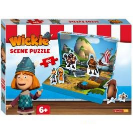 Puzzel Wickie scene 100 stukjes 100 stukjes vanaf 6 jaar
